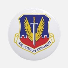 USAF Air Combat Command Ornament (Round)