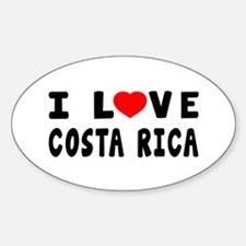 I Love Costa Rica Sticker (Oval)