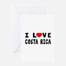 I Love Costa Rica Greeting Card