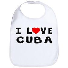 I Love Cuba Bib
