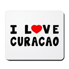 I Love Curacao Mousepad