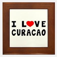 I Love Curacao Framed Tile