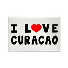 I Love Curacao Rectangle Magnet