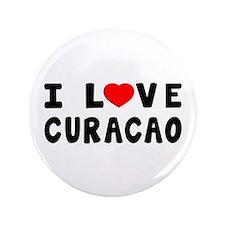 "I Love Curacao 3.5"" Button"