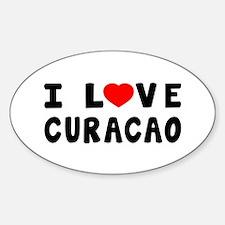 I Love Curacao Sticker (Oval)