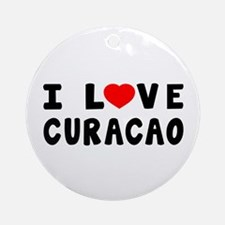 I Love Curacao Ornament (Round)