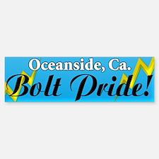 Oceanside Bolt Pride Bumper Bumper Bumper Sticker