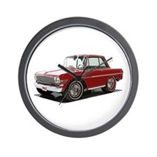 BabyAmericanMuscleCar_63NovA_Red Wall Clock