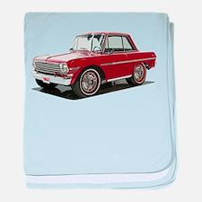 BabyAmericanMuscleCar_63NovA_Red baby blanket