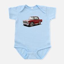 BabyAmericanMuscleCar_63NovA_Red Body Suit