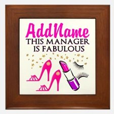 PERSONALIZE MANAGER Framed Tile