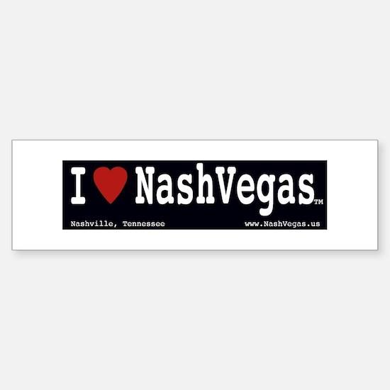 I 'Heart' NashVegas TM Bumpersticker