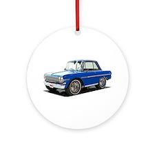 BabyAmericanMuscleCar_63NovA_Blue Ornament (Round)