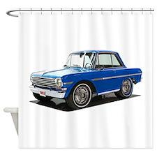 BabyAmericanMuscleCar_63NovA_Blue Shower Curtain
