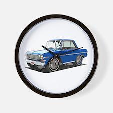 BabyAmericanMuscleCar_63NovA_Blue Wall Clock