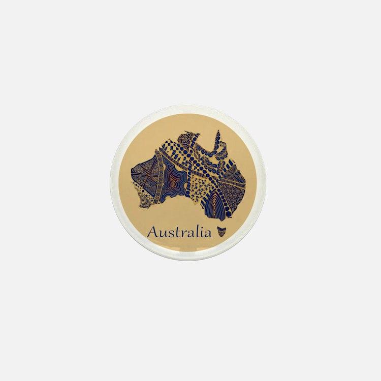 Decorative Australia Map Souvenir Mini Button