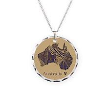 Decorative Australia Map Sou Necklace