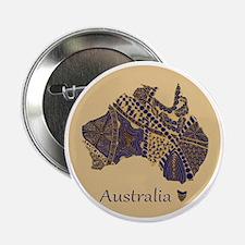 """Decorative Australia Map Souvenir 2.25"""" Button"""