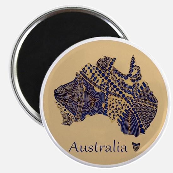 Decorative Australia Map Souvenir Magnet