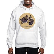 Decorative Australia Map Souveni Jumper Hoody
