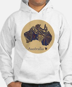 Decorative Australia Map Souveni Jumper Hoody