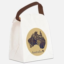 Decorative Australia Map Souvenir Canvas Lunch Bag