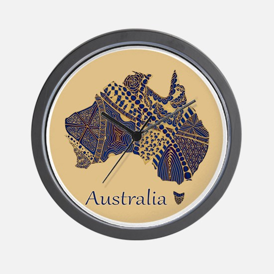 Decorative Australia Map Souvenir Wall Clock