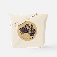 Decorative Australia Map Souvenir Tote Bag