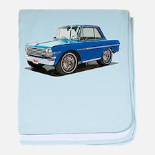 BabyAmericanMuscleCar_63NovA_Blue baby blanket