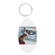 Sheltie Holiday Keychains
