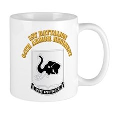 DUI - 1st Bn 64th Armor Regiment with Text Mug