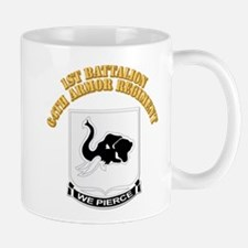 DUI - 1st Bn 64th Armor Regiment with Text Mug