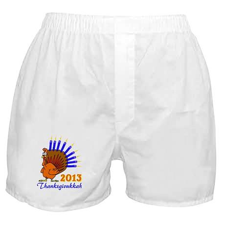 Thanksgivukkah 2013 Menurkey Boxer Shorts
