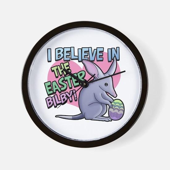 Believe Easter Bilby Wall Clock