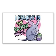 Believe Easter Bilby Rectangle Decal