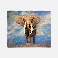 Bull Elephant Throw Blanket