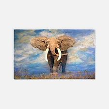 Bull Elephant 3'X5' Area Rug