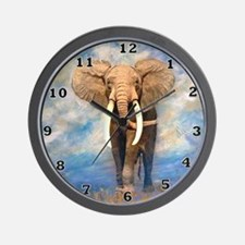 Bull Elephant Wall Clock