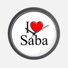 """I Love Saba"" Wall Clock"