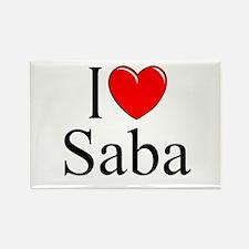 """I Love Saba"" Rectangle Magnet"