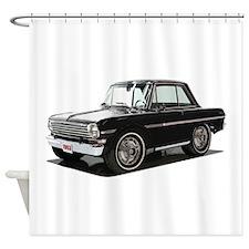 BabyMaricanMuscleCar_63NovA_Black Shower Curtain