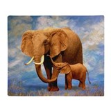 Elephant blanket Fleece Blankets