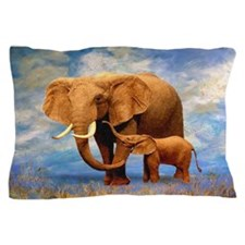 Elephant Mother Pillow Case