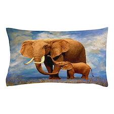 Elephant Mother Pillow Case