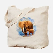 Elephant Mother Tote Bag