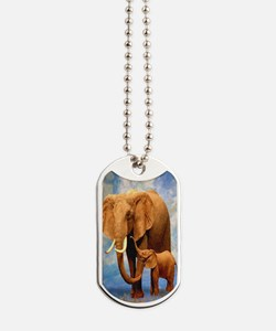 Elephant Mother Dog Tags