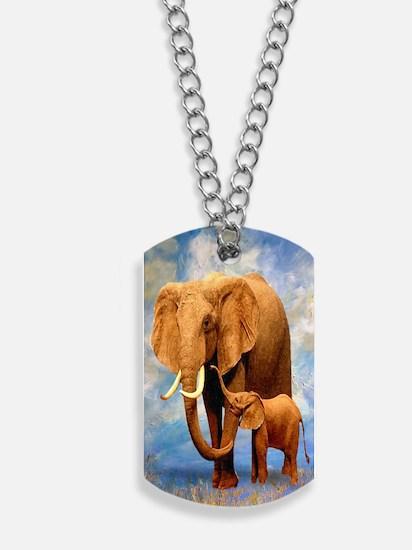 Elephant Mother Dog Tags