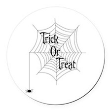 Trick Or Treat Spider Round Car Magnet