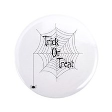 "Trick Or Treat Spider 3.5"" Button"