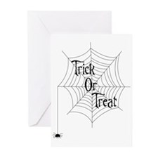 Trick Or Treat Spider Greeting Cards